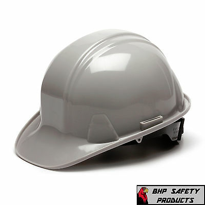 Gray Hard Hat 4 Point Ratchet Suspension Pyramex Hp14112 Construction Safety