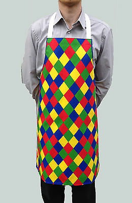 Wholesale Job Lot 10 Brand New Mens Womens Harlequin Aprons Work Chef Cook