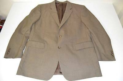 Jos A Bank Brown Tan Plaid 2 Button Blazer Coat Jacket Mens Size 46L