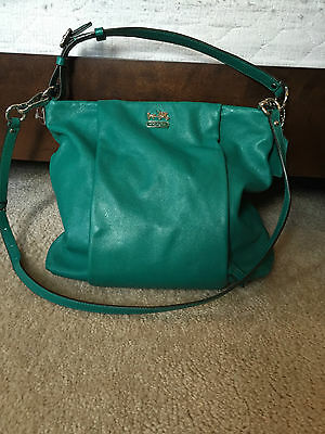 AUTH Coach Purse 21224 MADISON Leather ISABELLE Shoulder Crossbody Bag