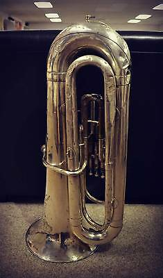 ANTIQUE TUBA SILVER PLATE ON BRASS!!