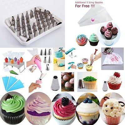 Fondant Cupcake Icing Nozzles Bags Two Toned Cake Decorating Pens Cookie Tools