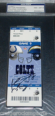 Peyton Manning Signed 2005 Colts Ticket Stub AUTO PSA/DNA