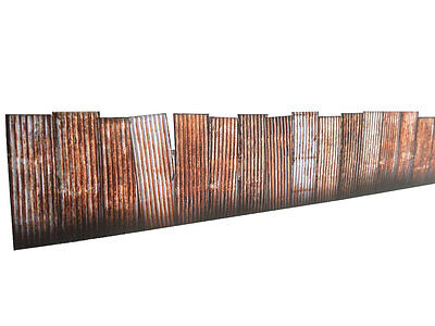9ft CORRUGATED IRON FENCING & GRAFFITI CARD KIT OO GAUGE MODEL RAILWAY KX022-OO