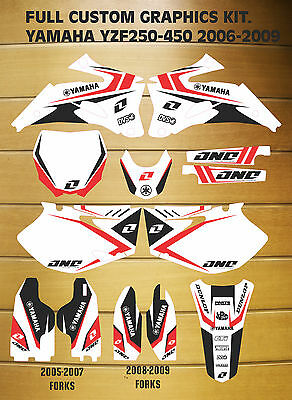 GRAPHICS & BACKGROUNDS DECALS YAMAHA YZ250F YZ450F YZF 2006 2007 2008 2009