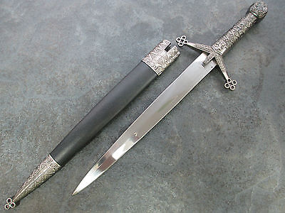 "16"" Medieval Ornate Dagger with Sheath Knife H-5929 zix"