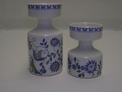"Figgjo Flint Turi Design Pottery Candle Holders 3.75"" & 5"" Mid Modern"