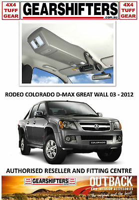 Outback Accessories Roof Console  Rodeo Colorado Dmax Great Wall Dual Cab 03-12