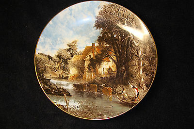 Crown Staffordshire - Valley Farm by John Constable - Collector Plate