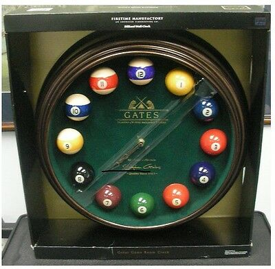 18 Inch Diameter Pool Billiards Room Wall Clock NEW Free Shipping w/ TRACKING #