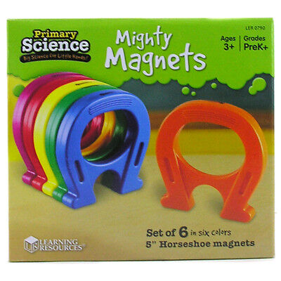 Learning Resources Primary Science Mighty Magnets (SET OF 6 HORSESHOE MAGNETS)