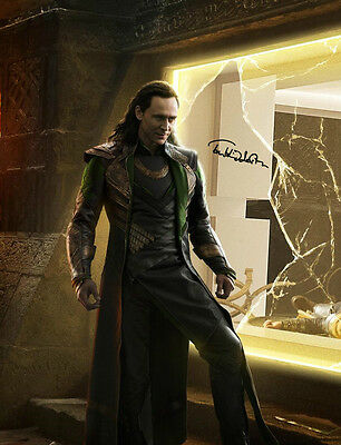 Signed Tom Hiddleston as Loki from Avengers Photograph (4)