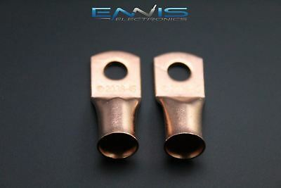 2//0 Gauge Copper 1//2 Ring 10 PK Crimp Battery Lug Terminal Connector AWG Battery CUR2012