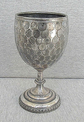 Antique Victorian Reed & Barton Silverplate Cup Goblet Handcrafted Signed