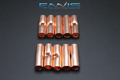 6 Gauge Copper Butt Connector 10 Pk Crimp Terminal Awg Battery Cur6