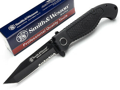 Smith and Wesson Special Tactical Tanto Pocket Folding Knife Black Blade SWTACBS