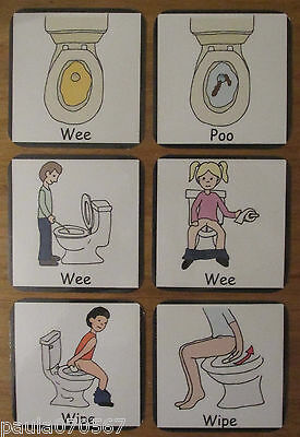 Basic Visual aid for, Toilet prompt~flash cards~Autism~ASD~SEN~Schools~Home use