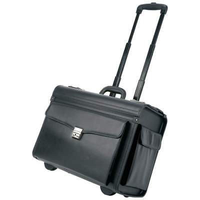 """19"""" Locking Rolling Sample / Pilot Briefcase Business Case with Aluminum Trolley"""