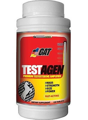GAT TESTAGEN  Testosterone Booster Fast-Acting 120 tablets BUILD MUSCLE STRENGTH