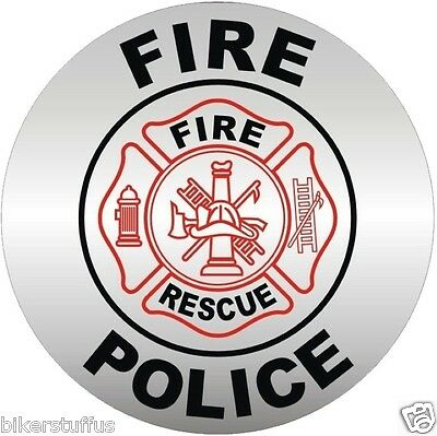 Fire Police Member Bumper Sticker - Fd Helmet Sticker/decal Bumper Sticker