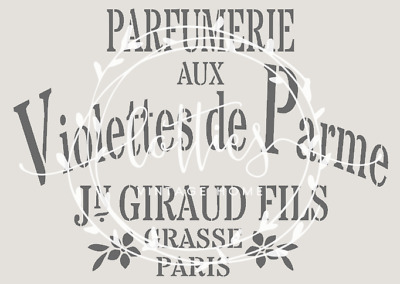 STENCIL A5 PARFUMERIE Furniture Glass Fabric Vintage Shabby Chic FRENCH ❤