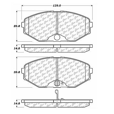Posi-Quiet Extended Wear w/Shims fits 1993-1997 Infiniti J30 Q45  CENT