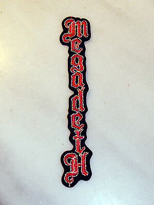"""Megadeth """"Killing is My Business"""" Vintage 80's Logo Vertical Patch  4sleeve Rare"""