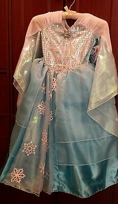 Disney Store limited deluxe Frozen Elsa Anna dress Girls costume Size 4 SOLD OUT
