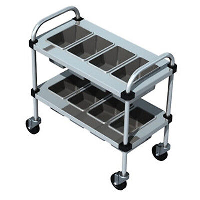 """Piper Products Stainless Steel Silverware Cart w/ 2 Shelves 30""""Lx16""""Wx31""""H 717"""