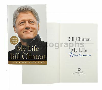 "Bill Clinton - 42nd U.S. President - Authentic Autographed ""My Life"" Book"