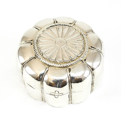 c.1920 Sterling Silver Lobbed Trinket Box. Marked .925 on Reverse; 7.5toz