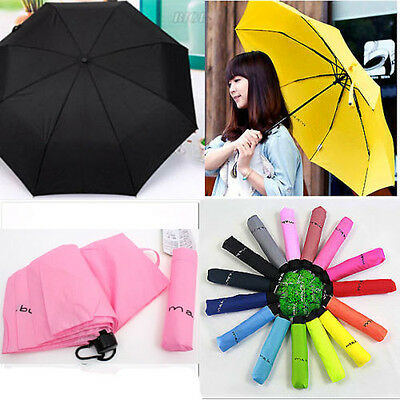 New Lady Men Waterproof Windproof Mini Compact Folding Handbag Umbrella 7 Colors