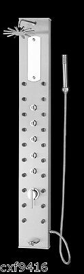Stainless shower tower massage spa panel with rainfall head 20 JETS