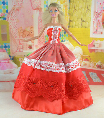 hot New Handmade Party Clothes Fashion Dress for Noble Doll *y41