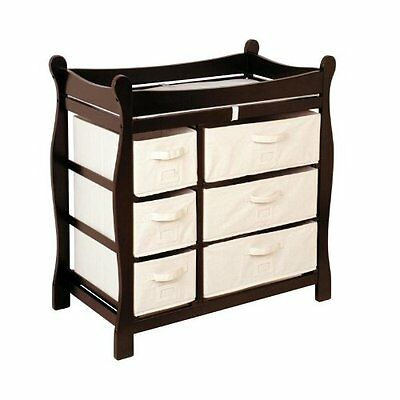 Badger Basket BABY CHANGING TABLE, Nursery Furniture CHANGING TABLE, Espresso