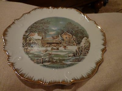 VINTAGE COLLECTOR PLATE / THE FARMER'S HOME - WINTER