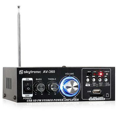 Mini Amplificatore Hi Fi Stereo Audio Karaoke Skytronic Compatto Radio Fm Usb Sd