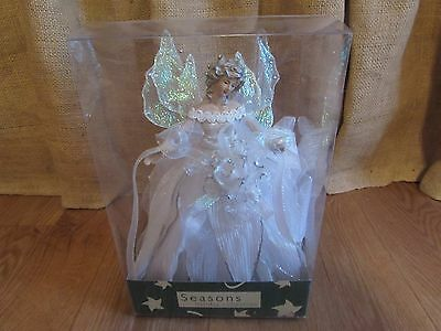 Seasons Holiday Collection Porcelain Angel Christmas Tree Topper NRFB #2735