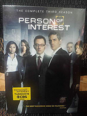 Person of Interest: The Complete Third Season 3rd (DVD, 2014, 6-Disc Set)