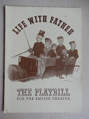 June 1941 - Empire Theatre Playbill - Life With Father - Howard Lindsay