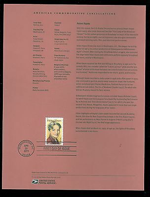 #4525 Forever - Helen Hayes USPS #1120 Souvenir Page