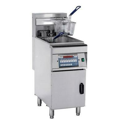 Deep Fryer with Cold Zone, Single 28L Vat, Computerised FryMax Commercial Unit