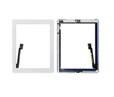 For Apple iPad 3 Front White Replacement Touch Digitizer Lens Screen Glass A1416
