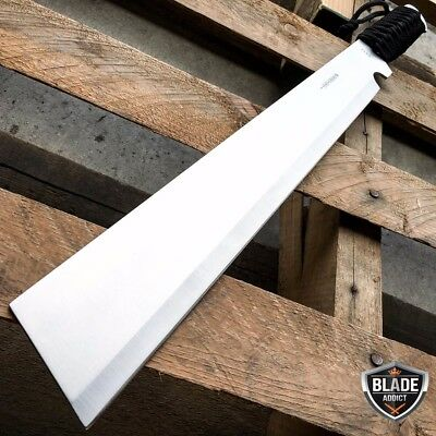 "20"" SURVIVAL HUNTING Bowie Military FULL TANG MACHETE Fixed Blade Knife SWORD"