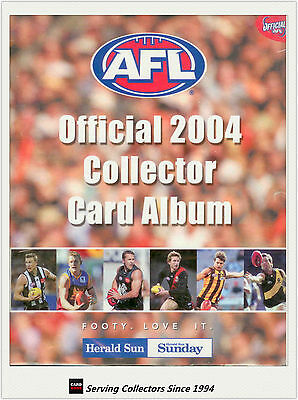 2004 Herald Sun AFL Trading Cards Official Album (With Pages) - Rare