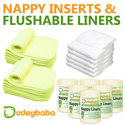 Reusable Washable Real Nappy Inserts Boosters Liners-bamboo & microfibre insert