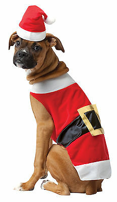 Funny Santa Claus Pet Costume Dog Doggy Fancy Dress Christmas Outfit,