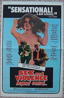 SEX AND VIOLENCE BEYOND CONTROL Gangster Sexploitation r71 MOVIE PRESSBOOK