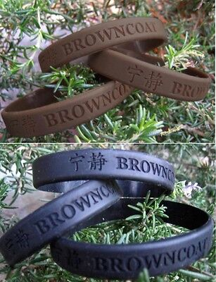 Firefly Serenity BROWNCOAT Silicone Bracelet Brown -or- Black