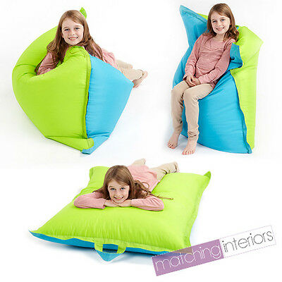 Lime Blue Bean Bag Slab Large Children's Kids Beanbag Cushion Splashproof Seat